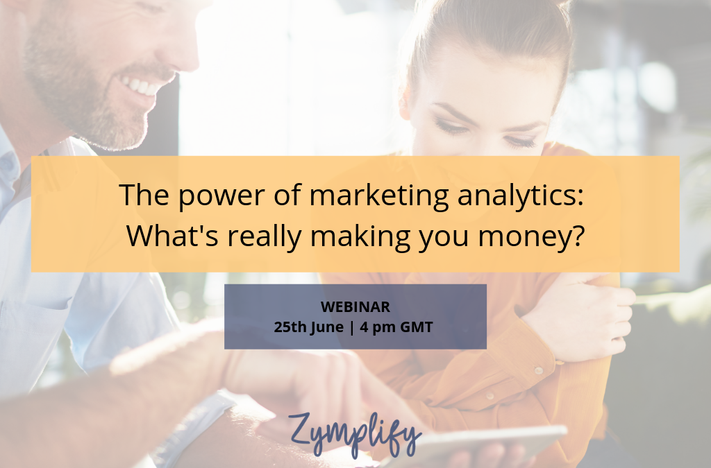 WEBINAR   The power of marketing analytics: What's really making you money?