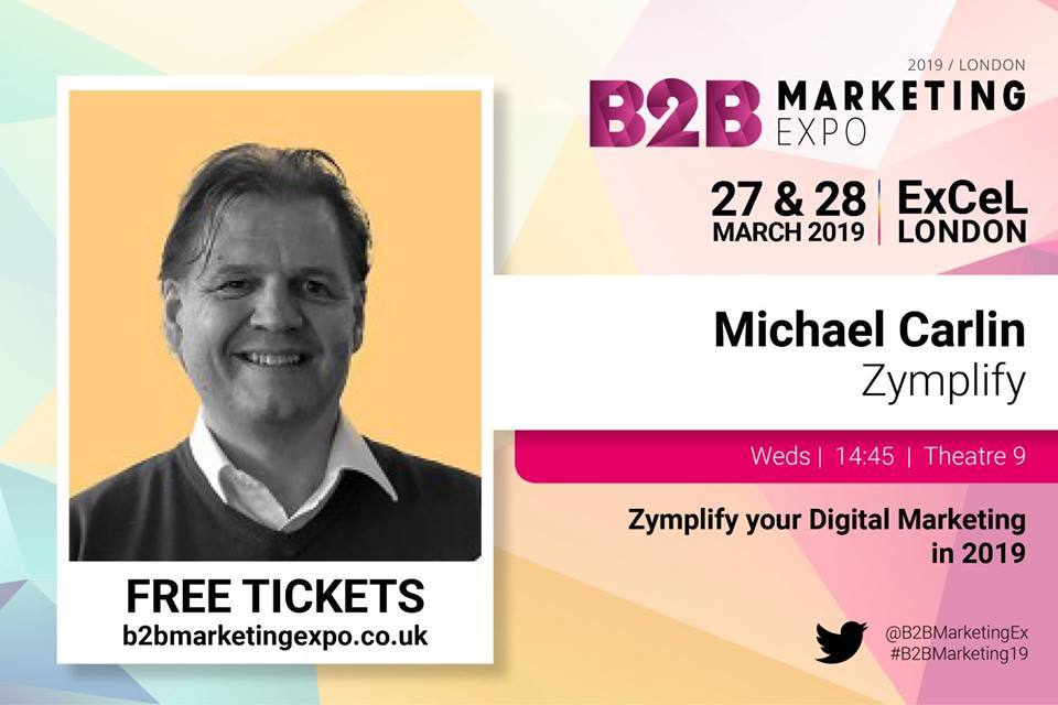 Zymplify hits the B2B Marketing Expo in London next week
